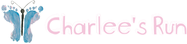 Charlee's Run Butterfly Logo