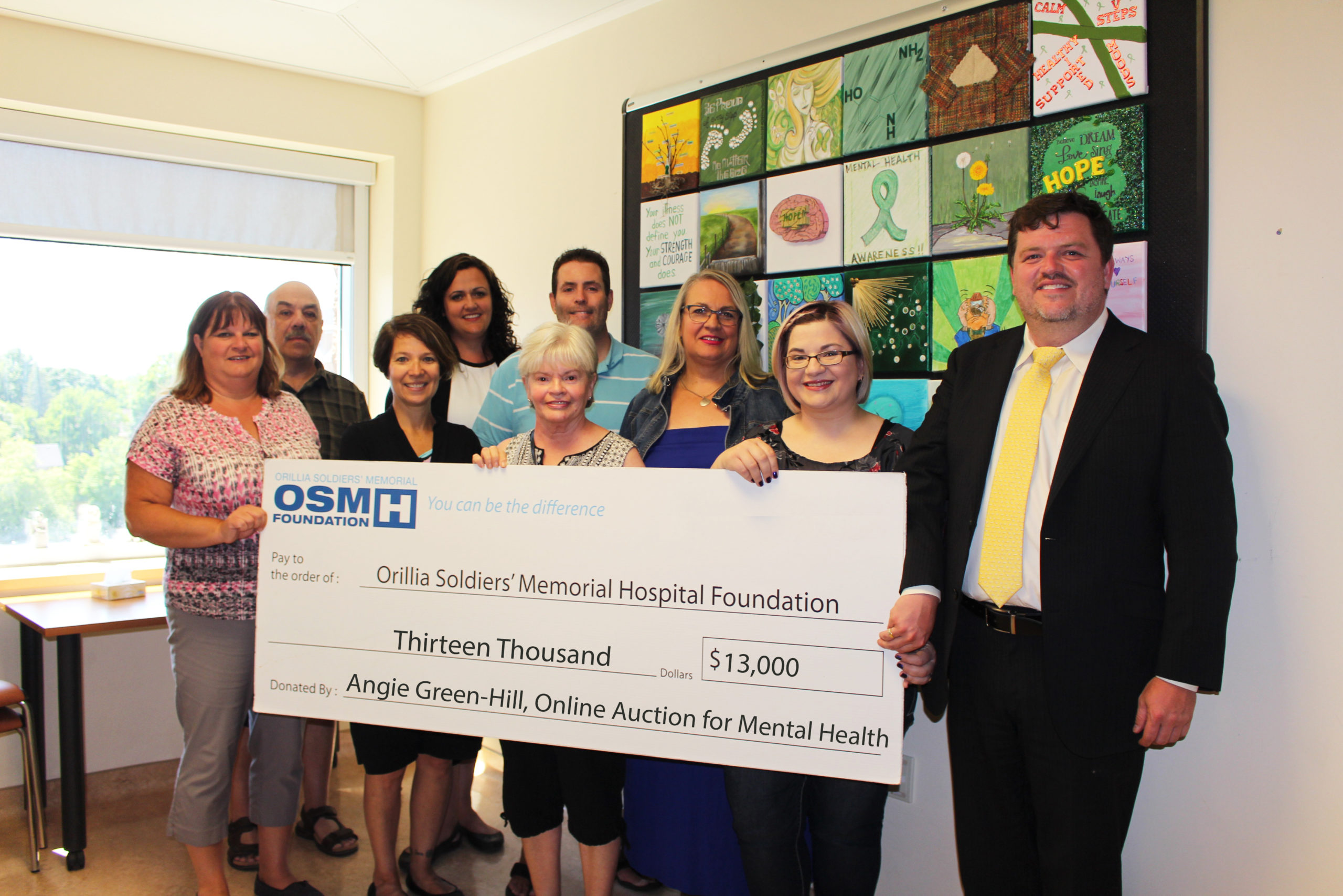 OSMH Mental Health Outpatient Donation Photo