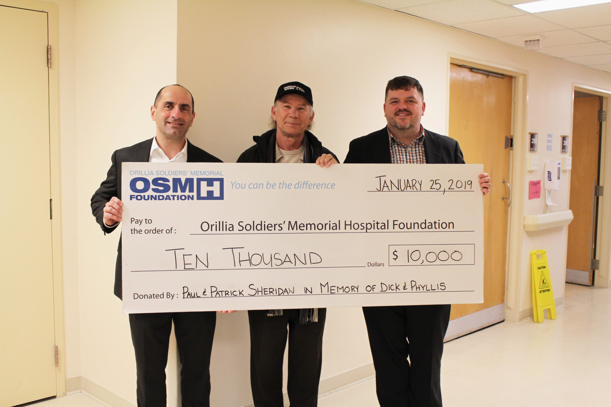 The Sheridan Family Makes a Donation to OSMH